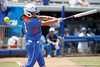 Florida senior second baseman Aja Paculba fouls off a pitch during the Gators' 3-2 loss to the UCLA Bruins in the NCAA Regionals on Sunday, May 22, 2011 at Katie Seashole Pressly Softball Stadium in Gainesville, Fla. / Gator Country photo by Tim Casey