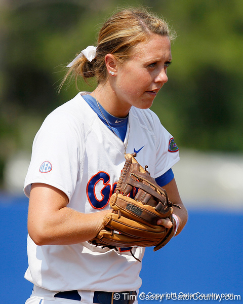 Florida freshman third baseman Kasey Fagan gets in position during the Gators' 11-3 win against the UCLA Bruins in the NCAA Regional final on Sunday, May 22, 2011 at Katie Seashole Pressly Softball Stadium in Gainesville, Fla. / Gator Country photo by Tim Casey