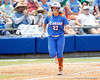 Florida freshman shortstop Cheyenne Coyle runs to first base during the Gators' 3-2 loss to the UCLA Bruins in the NCAA Regionals on Sunday, May 22, 2011 at Katie Seashole Pressly Softball Stadium in Gainesville, Fla. / Gator Country photo by Tim Casey