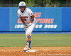 Florida freshman shortstop Cheyenne Coyle stans on second base during the Gators' 11-3 win against the UCLA Bruins in the NCAA Regional final on Sunday, May 22, 2011 at Katie Seashole Pressly Softball Stadium in Gainesville, Fla. / Gator Country photo by Tim Casey