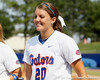 Florida sophomore Kelsey Horton smiles during the Gators' 11-3 win against the UCLA Bruins in the NCAA Regional final on Sunday, May 22, 2011 at Katie Seashole Pressly Softball Stadium in Gainesville, Fla. / Gator Country photo by Tim Casey