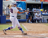 Florida senior catcher Tiffany DeFelice connects with the ball during the Gators' 11-3 win against the UCLA Bruins in the NCAA Regional final on Sunday, May 22, 2011 at Katie Seashole Pressly Softball Stadium in Gainesville, Fla. / Gator Country photo by Tim Casey