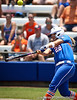 Florida senior catcher Tiffany DeFelice connects with the ball during the Gator's 2-3 loss to the UCLA Bruins on Sunday, May 22, 2011 at Katie Seashole Pressly Stadium in Gainesville, Fla. / photo by Rob Foldy