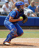 Florida senior catcher Tiffany DeFelice checks a runner during the Gators' 3-2 loss to the UCLA Bruins in the NCAA Regionals on Sunday, May 22, 2011 at Katie Seashole Pressly Softball Stadium in Gainesville, Fla. / Gator Country photo by Tim Casey
