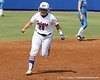 Florida senior catcher Tiffany DeFelice reacts after hitting a home run during the first inning of the Gators' 11-3 win against UCLA in the NCAA Regional final on Sunday, May 22, 2011 at Katie Seashole Pressly Softball Stadium in Gainesville, Fla. / Gator Country photo by Tim Casey
