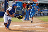 UCLA's Katie Schroeder scores during the Gators' 11-3 win against the UCLA Bruins in the NCAA Regional final on Sunday, May 22, 2011 at Katie Seashole Pressly Softball Stadium in Gainesville, Fla. / Gator Country photo by Tim Casey