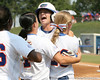 Florida senior first baseman Megan Bush celebrates after scoring a run during the Gators' 11-3 win against the UCLA Bruins in the NCAA Regional final on Sunday, May 22, 2011 at Katie Seashole Pressly Softball Stadium in Gainesville, Fla. / Gator Country photo by Tim Casey