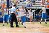 UCLA players celebrate after the Gators' 3-2 loss to the Bruins in the NCAA Regionals on Sunday, May 22, 2011 at Katie Seashole Pressly Softball Stadium in Gainesville, Fla. / Gator Country photo by Tim Casey
