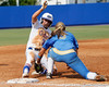 Florida senior second baseman Aja Paculba gets caught stealing third base during the Gators' 11-3 win against the UCLA Bruins in the NCAA Regional final on Sunday, May 22, 2011 at Katie Seashole Pressly Softball Stadium in Gainesville, Fla. / Gator Country photo by Tim Casey
