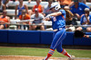 Florida sophomore Samantha Holle follows through with a swing during the Gator's 2-3 loss to the UCLA Bruins on Sunday, May 22, 2011 at Katie Seashole Pressly Stadium in Gainesville, Fla. / photo by Rob Foldy