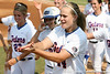 Florida sophomore Brittany Schutte celebrates after a home run during the Gators' 11-3 win against the UCLA Bruins in the NCAA Regional final on Sunday, May 22, 2011 at Katie Seashole Pressly Softball Stadium in Gainesville, Fla. / Gator Country photo by Tim Casey