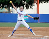 Florida freshman pitcher Hannah Rogers winds up during the Gators' 11-3 win against the UCLA Bruins in the NCAA Regional final on Sunday, May 22, 2011 at Katie Seashole Pressly Softball Stadium in Gainesville, Fla. / Gator Country photo by Tim Casey