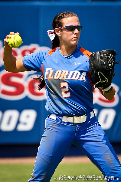 Florida senior Kelsey Bruder prepares to throw the ball during the Gator's 2-3 loss to the UCLA Bruins on Sunday, May 22, 2011 at Katie Seashole Pressly Stadium in Gainesville, Fla. / photo by Rob Foldy