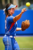 Florida freshman shortstop Cheyenne Coyle throws the ball during the Gator's 2-3 loss to the UCLA Bruins on Sunday, May 22, 2011 at Katie Seashole Pressly Stadium in Gainesville, Fla. / photo by Rob Foldy