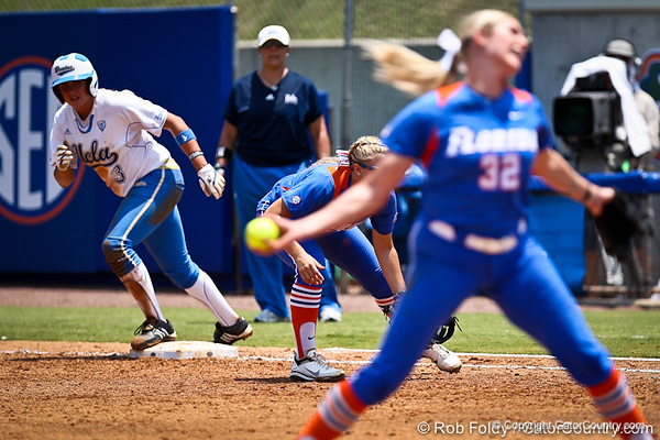 UCLA's GiOnna DiSalvatore prepares to run during the Gator's 2-3 loss to the Bruins on Sunday, May 22, 2011 at Katie Seashole Pressly Stadium in Gainesville, Fla. / photo by Rob Foldy