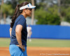UCLA head coach Kelly Inouye-Perez watches during the Gators' 11-3 win against the UCLA Bruins in the NCAA Regional final on Sunday, May 22, 2011 at Katie Seashole Pressly Softball Stadium in Gainesville, Fla. / Gator Country photo by Tim Casey