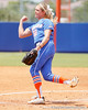 Florida senior pitcher Stephanie Brombacher follows through on a pitch during the Gators' 3-2 loss to the UCLA Bruins in the NCAA Regionals on Sunday, May 22, 2011 at Katie Seashole Pressly Softball Stadium in Gainesville, Fla. / Gator Country photo by Tim Casey