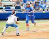 Florida senior catcher Tiffany DeFelice runs out a sacrifice bunt during the Gators' 3-2 loss to the UCLA Bruins in the NCAA Regionals on Sunday, May 22, 2011 at Katie Seashole Pressly Softball Stadium in Gainesville, Fla. / Gator Country photo by Tim Casey