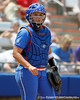 Florida senior catcher Tiffany DeFelice looks to the dugout during the Gators' 3-2 loss to the UCLA Bruins in the NCAA Regionals on Sunday, May 22, 2011 at Katie Seashole Pressly Softball Stadium in Gainesville, Fla. / Gator Country photo by Tim Casey