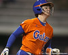 Florida freshman Brittany Walker runs to first base during the Gators' 6-1 win against the Jacksonville Dolphins on Wednesday, February 17, 2010 at Katie Seashole Pressly Softball Stadium in Gainesville, Fla. / Gator Country photo by Tim Casey