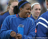 Florida redshirt sophomore Shaunice Harris celebrates with teammates during the Gators' 6-1 win against the Jacksonville Dolphins on Wednesday, February 17, 2010 at Katie Seashole Pressly Softball Stadium in Gainesville, Fla. / Gator Country photo by Tim Casey
