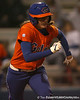 Florida senior left fielder Francesca Enea runs to first base during the Gators' 6-1 win against the Jacksonville Dolphins on Wednesday, February 17, 2010 at Katie Seashole Pressly Softball Stadium in Gainesville, Fla. / Gator Country photo by Tim Casey