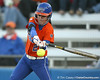Florida junior Kelsey Bruder fouls off a pitch during the Gators' 6-1 win against the Jacksonville Dolphins on Wednesday, February 17, 2010 at Katie Seashole Pressly Softball Stadium in Gainesville, Fla. / Gator Country photo by Tim Casey