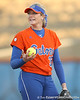 Florida junior pitcher Stephanie Brombacher checks the defense behind her during the Gators' 6-1 win against the Jacksonville Dolphins on Wednesday, February 17, 2010 at Katie Seashole Pressly Softball Stadium in Gainesville, Fla. / Gator Country photo by Tim Casey