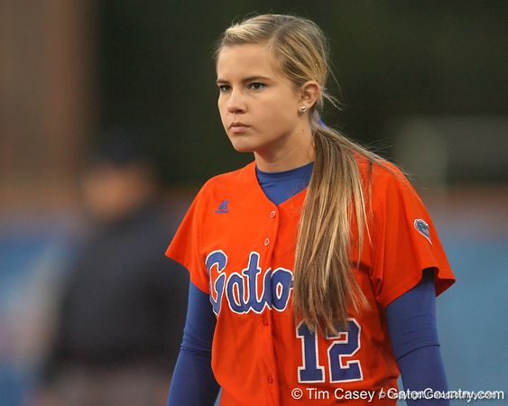 Florida junior Megan Bush watches the batter during the Gators' 6-1 win against the Jacksonville Dolphins on Wednesday, February 17, 2010 at Katie Seashole Pressly Softball Stadium in Gainesville, Fla. / Gator Country photo by Tim Casey