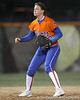 Florida freshman Brittany Walker gets ready at shortstop during the Gators' 6-1 win against the Jacksonville Dolphins on Wednesday, February 17, 2010 at Katie Seashole Pressly Softball Stadium in Gainesville, Fla. / Gator Country photo by Tim Casey
