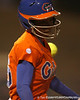 Florida sophomore Michelle Moultrie runs to first base during the Gators' 6-1 win against the Jacksonville Dolphins on Wednesday, February 17, 2010 at Katie Seashole Pressly Softball Stadium in Gainesville, Fla. / Gator Country photo by Tim Casey
