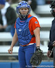 Florida junior catcher Tiffany DeFelice looks to the dugout during the Gators' 6-1 win against the Jacksonville Dolphins on Wednesday, February 17, 2010 at Katie Seashole Pressly Softball Stadium in Gainesville, Fla. / Gator Country photo by Tim Casey