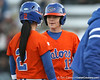 Florida junior Megan Bush talks with junior Kelsey Bruder during the Gators' 6-1 win against the Jacksonville Dolphins on Wednesday, February 17, 2010 at Katie Seashole Pressly Softball Stadium in Gainesville, Fla. / Gator Country photo by Tim Casey
