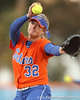 Florida junior pitcher Stephanie Brombacher warms up during the Gators' 6-1 win against the Jacksonville Dolphins on Wednesday, February 17, 2010 at Katie Seashole Pressly Softball Stadium in Gainesville, Fla. / Gator Country photo by Tim Casey