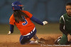 Florida junior second baseman Aja Paculba slides into second base during the Gators' 6-1 win against the Jacksonville Dolphins on Wednesday, February 17, 2010 at Katie Seashole Pressly Softball Stadium in Gainesville, Fla. / Gator Country photo by Tim Casey