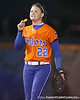 Florida freshman Brittany Walker cheers during the Gators' 6-1 win against the Jacksonville Dolphins on Wednesday, February 17, 2010 at Katie Seashole Pressly Softball Stadium in Gainesville, Fla. / Gator Country photo by Tim Casey