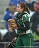 Jacksonville catcher Sarah Simon stops play during the Gators' 6-1 win against the Jacksonville Dolphins on Wednesday, February 17, 2010 at Katie Seashole Pressly Softball Stadium in Gainesville, Fla. / Gator Country photo by Tim Casey