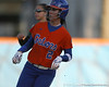 Florida junior Kelsey Bruder rounds second base during the Gators' 6-1 win against the Jacksonville Dolphins on Wednesday, February 17, 2010 at Katie Seashole Pressly Softball Stadium in Gainesville, Fla. / Gator Country photo by Tim Casey