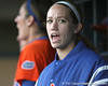 Florida sophomore Lauren Heil cheers during the Gators' 6-1 win against the Jacksonville Dolphins on Wednesday, February 17, 2010 at Katie Seashole Pressly Softball Stadium in Gainesville, Fla. / Gator Country photo by Tim Casey