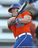 Florida junior catcher Tiffany DeFelice hits a two-run homer during the Gators' 6-1 win against the Jacksonville Dolphins on Wednesday, February 17, 2010 at Katie Seashole Pressly Softball Stadium in Gainesville, Fla. / Gator Country photo by Tim Casey