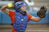 Florida junior catcher Tiffany DeFelice returns the ball during the Gators' 6-1 win against the Jacksonville Dolphins on Wednesday, February 17, 2010 at Katie Seashole Pressly Softball Stadium in Gainesville, Fla. / Gator Country photo by Tim Casey