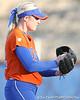 Florida junior pitcher Stephanie Brombacher checks for a pitch sign during the Gators' 6-1 win against the Jacksonville Dolphins on Wednesday, February 17, 2010 at Katie Seashole Pressly Softball Stadium in Gainesville, Fla. / Gator Country photo by Tim Casey