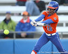 Florida sophomore Michelle Moultrie hits a single during the Gators' 6-1 win against the Jacksonville Dolphins on Wednesday, February 17, 2010 at Katie Seashole Pressly Softball Stadium in Gainesville, Fla. / Gator Country photo by Tim Casey