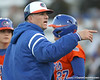 Florida head coach Tim Walton motions to the dugout during the Gators' 6-1 win against the Jacksonville Dolphins on Wednesday, February 17, 2010 at Katie Seashole Pressly Softball Stadium in Gainesville, Fla. / Gator Country photo by Tim Casey