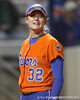 Florida junior pitcher Stephanie Brombacher smiles after the final out of the Gators' 6-1 win against the Jacksonville Dolphins on Wednesday, February 17, 2010 at Katie Seashole Pressly Softball Stadium in Gainesville, Fla. / Gator Country photo by Tim Casey