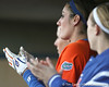 Florida senior left fielder Francesca Enea cheers during the Gators' 6-1 win against the Jacksonville Dolphins on Wednesday, February 17, 2010 at Katie Seashole Pressly Softball Stadium in Gainesville, Fla. / Gator Country photo by Tim Casey