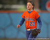 Florida freshman Brittany Walker stands ready at shortstop during the Gators' 6-1 win against the Jacksonville Dolphins on Wednesday, February 17, 2010 at Katie Seashole Pressly Softball Stadium in Gainesville, Fla. / Gator Country photo by Tim Casey