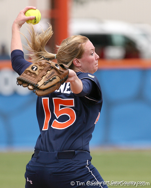 photo by Tim Casey<br /> <br /> during the Gators' 10-1 win against the Auburn Tigers on Sunday, April 27, 2008 at Katie Seashole Pressly Softball Stadium in Gainesville, Fla.