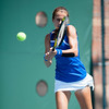 Florida sophomore Olivia Janowicz during the Gators' 4-0 win against South Carolilna State on Friday May 11, 2012 at the Alfred A Ring Tennis Complex in Gainesville, Fla. / Gator Country photo by Saj Guevara