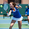 Florida junior Lauren Embree  during the Gators' 4-0 win against South Carolilna State on Friday May 11, 2012 at the Alfred A Ring Tennis Complex in Gainesville, Fla. / Gator Country photo by Saj Guevara